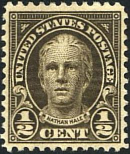 1 2 US Nathan Hale Issue Scott 551