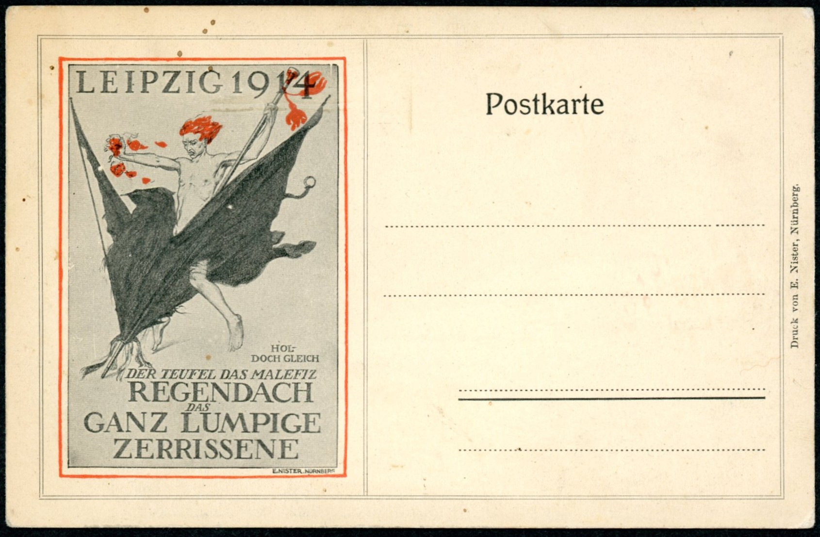 POSTER STAMPS AND POSTCARDS OF THE BUGRA - LEIPZIG, 1914